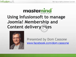 Infusionsoft Mastermind with Dom Cassone